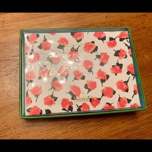 Kate spade red floral note cards with envelope
